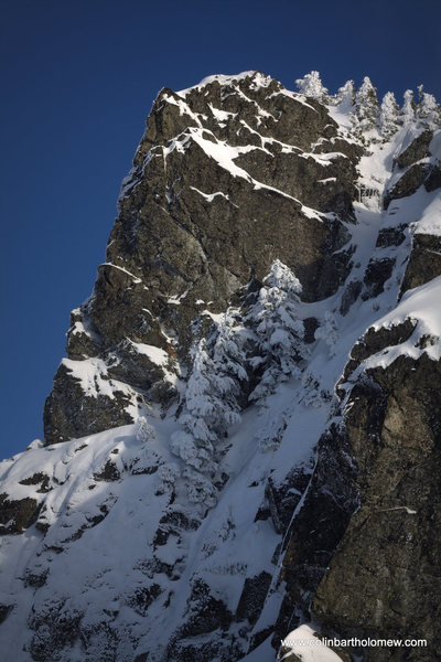 Rock Climbing Photo: A view from the route. Note- this is not the route...