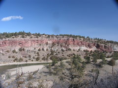 Rock Climbing Photo: The Red Wall above the North Platte River