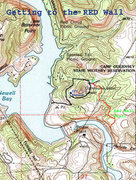 Rock Climbing Photo: Map of Hike to Red Wall