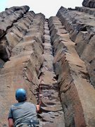 Rock Climbing Photo: Climbing a typical stemming route @ Frenchman's Co...