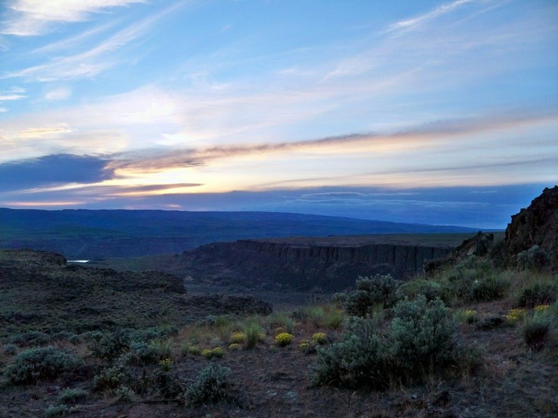 Rock Climbing Photo: Sunset at Frenchman's Coulee