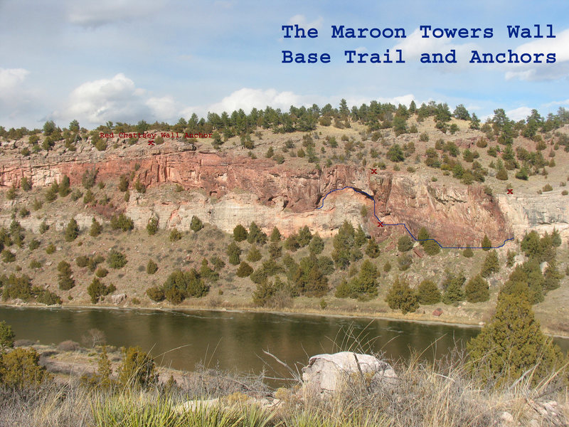 The Maroon Towers Base Trail and Rap Anchors