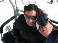 Rock Climbing Photo: My wife and I at Alpine Meadows winter 2010.