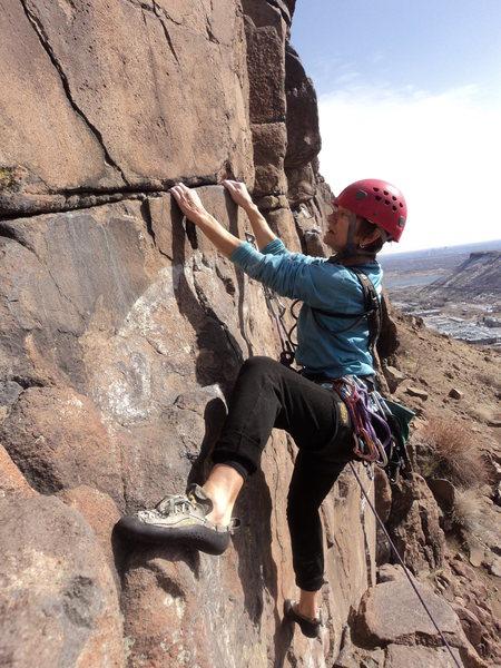 Rock Climbing Photo: Soaking in the sun on Big O Flyer.  Happy Birthday...
