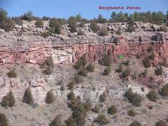 Rock Climbing Photo: Location of Neopheete Petee