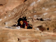 Rock Climbing Photo: Vegas local living large on Sunny n Steep