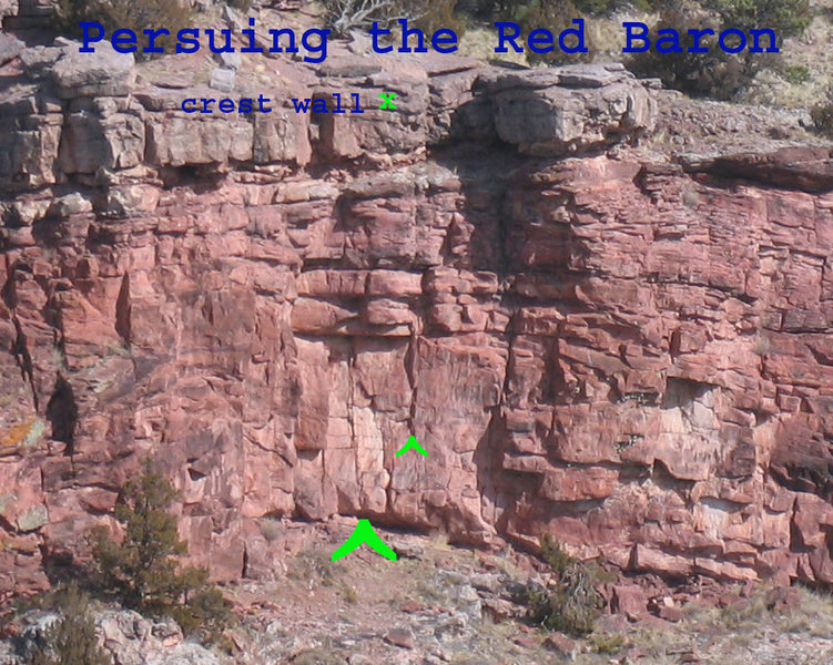 Location of Pursuing the Red Baron on the crest wall