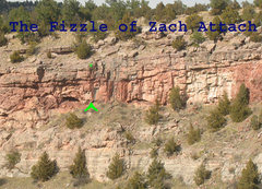 Rock Climbing Photo: Location of Fizzle of Zach Attack