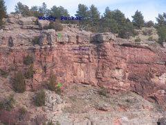 Rock Climbing Photo: Location of Woody Pecker