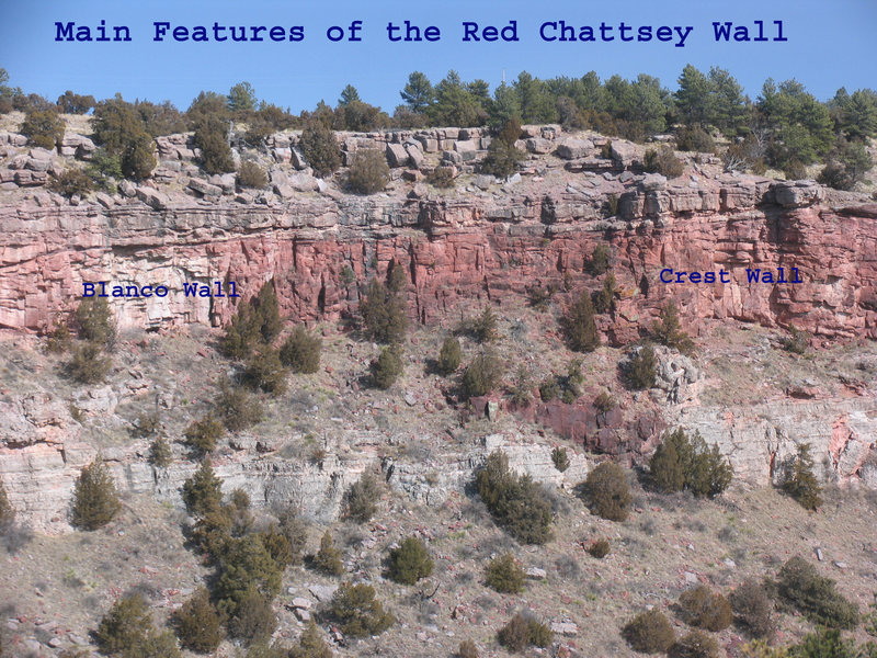 Rock Climbing Photo: The two main named features of the Red Clove Wall ...