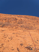 Rock Climbing Photo: A good overview of how the route looks from the be...