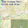 Map showing drive and hike from Curtis Gulch CG to base of climbs on the Orange Wall