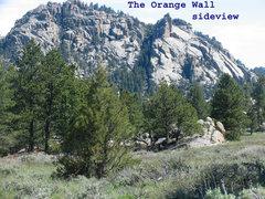 Rock Climbing Photo: The Orange Wall as seen from Curtis Gulch CG.