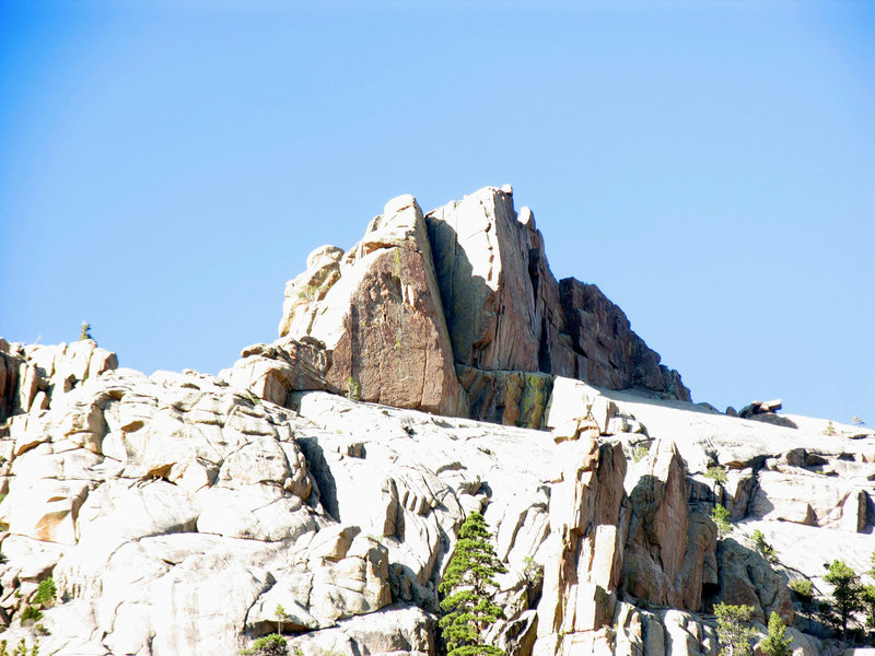 Rock Climbing Photo: Orange Wall from Left
