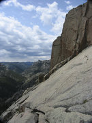 Rock Climbing Photo: Looking up La Bonte Canyon.  Note the Curtis Gulch...