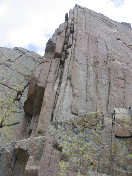 An unclimbed crack with a hard start near From My Quiver.