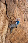 Rock Climbing Photo: Jimbo cleverly avoiding the bomber undercling on t...