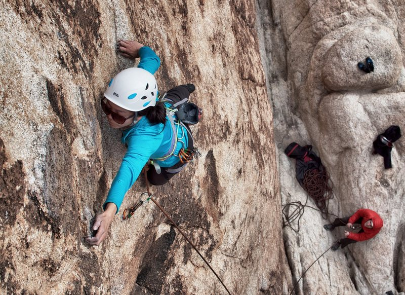 Catherine on El Chivo - its surprisingly steep