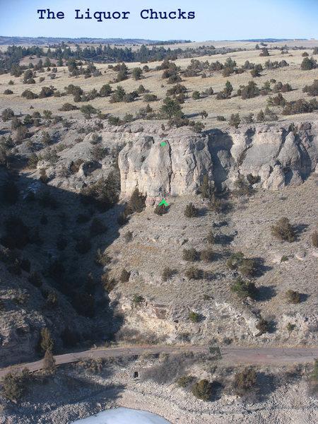 Rock Climbing Photo: Location of Liquor Chucks