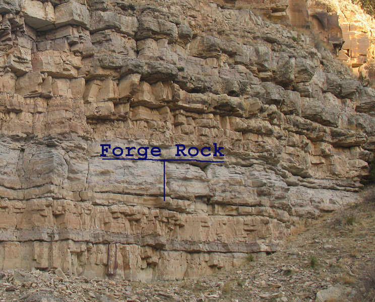 Rock Climbing Photo: The landmark Forge Rock is used by and lies betwee...