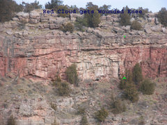 Rock Climbing Photo: Location of Red Cloud gets Wounded Knee