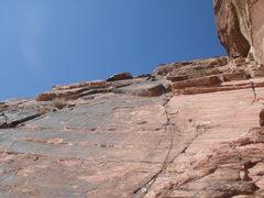 Rock Climbing Photo: leading abbey road