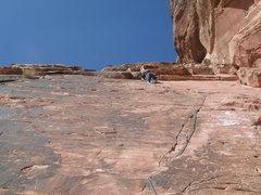 Rock Climbing Photo: just under the shelf