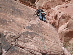 Rock Climbing Photo: starting placement of protection