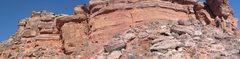 Rock Climbing Photo: panorama of front half of moderate mecca