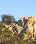Rock Climbing Photo: Overhanging Buckets
