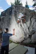 Rock Climbing Photo: The Bolt Boulder is really close to the parking lo...