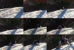 Rock Climbing Photo: Matty on the first lead on bolts. Kimchi, 2012.