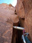 Rock Climbing Photo: Pariah Tower, Pitch 2 (down low)
