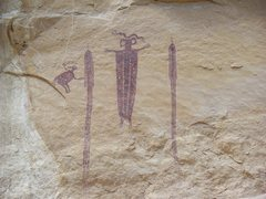 "Rock Climbing Photo: ""The Oracle"" pictograph"