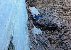 Rock Climbing Photo: Getting on the ice