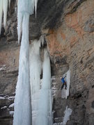 Rock Climbing Photo: A good perspective with the fang forming up on Feb...
