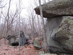 Rock Climbing Photo: Luminary roof and Huckleberry boulder further away...