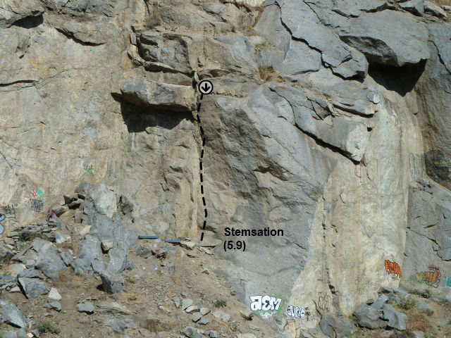 Stemsation (5.9), Riverside Quarry