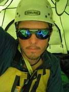 Rock Climbing Photo: Sporting shades in the tent