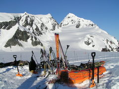 Rock Climbing Photo: Group ski gear and sleds