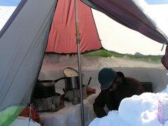 Rock Climbing Photo: Inside kitchen tent