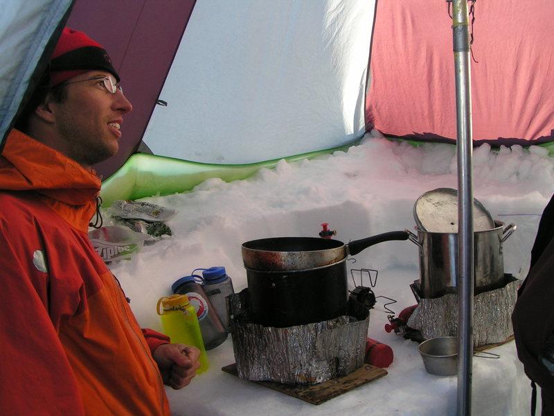 Inside kitchen tent 2