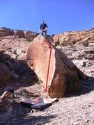 Rock Climbing Photo: The line basically follows how this route climbs.