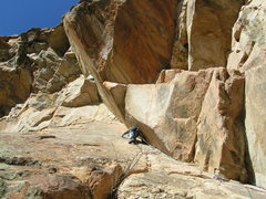 Rock Climbing Photo: Guiding Angels Way Taylor Canyon 5.10