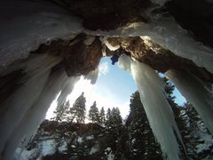 Rock Climbing Photo: Sunny side of the ice park. Right near the lower p...