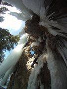 Rock Climbing Photo: more sunny ice
