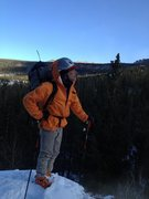 Rock Climbing Photo: cold day skiing back from lock veil with mike wall...