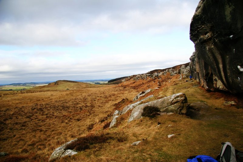 Rock Climbing Photo: Looking across the rolling countryside from The Wa...