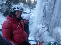 Rock Climbing Photo: Psyched! In -20 C weather..