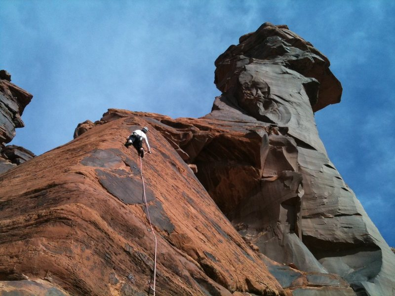 Crazy hot place in summer.<br> Climbing with Frank Robertson.<br> Iva took this with my iphone3s.<br> Iva lead the last pitch